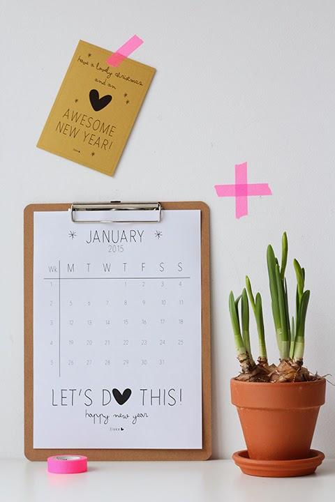 Januari kalender Elske 2015 v